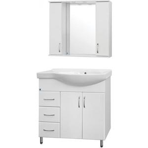 Мебель для ванной Style line Эко Стандарт №25 L ящики слева, белая