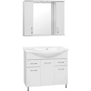 Фото - Мебель для ванной Style line Эко Стандарт 100 №26 белая, напольная мебель для ванной style line эко стандарт 90 26 белая напольная