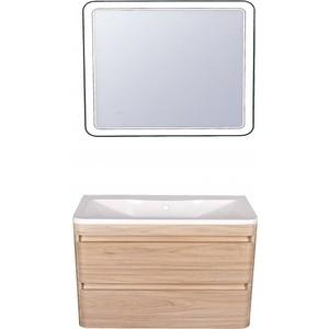 Мебель для ванной Style line Атлантика 100 ясень перламутр, подвесная мебель ясень