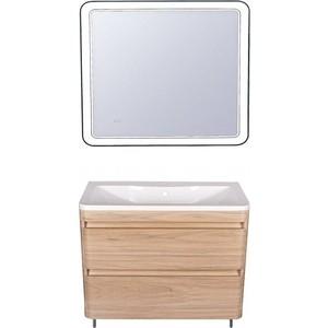 Мебель для ванной Style line Атлантика 100 ясень перламутр, напольная мебель ясень