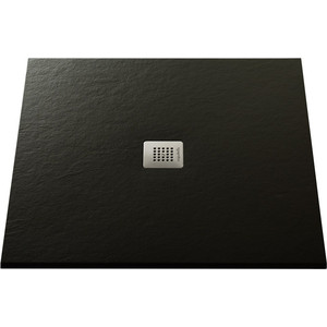 Душевой поддон Acquabella Base Slate черный 100x100 (PLATO_BASE_HUNDRED_SLATE_NEGRO_100x100)