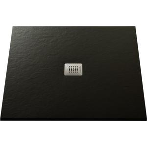 Душевой поддон Acquabella Base Slate черный 90x90 (PLATO_BASE_NINETY_SLATE_CUAD_NEGRO_90x90)