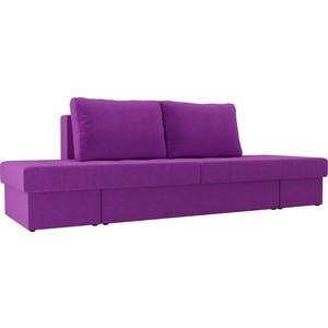 Диван трансформер Лига Диванов Сплит микровельвет фиолетовый
