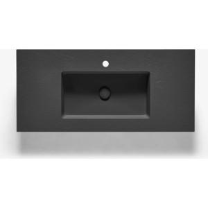 Раковина Acquabella Integra 100x46,5 черная (ENCIM.INTEGRA_100_S/F_SLATE_NEGRO)