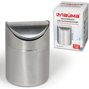 Урна для мусора Лайма Настольная, с качающейся крышкой, нержавеющая сталь, матовая 601618