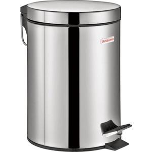Ведро-контейнер для мусора (урна) с педалью Лайма Classic зеркальное, нержавеющая сталь, со съемным внутренним ведром, 3 л 604942 фото