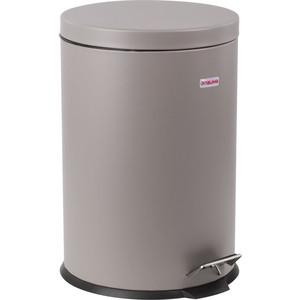 Ведро-контейнер для мусора (урна) с педалью Лайма Classic серое, матовое, металл, со съемным внутренним ведром, 20 л 604946