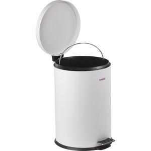 Ведро-контейнер для мусора (урна) с педалью Лайма Classic белое, глянцевое, металл, со съемным внутренним ведром, 12 л 604948 фото