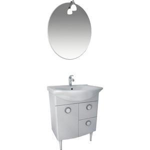 Мебель для ванной Triton Лира 55 белый R цена в Москве и Питере