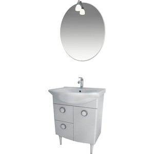 Мебель для ванной Triton Лира 65 белый L цена в Москве и Питере