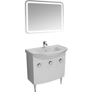 Мебель для ванной Triton Лира 80 белый, 3 двери цена в Москве и Питере