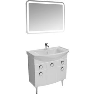 Мебель для ванной Triton Лира 80 белый, 3 двери, 2 ящика