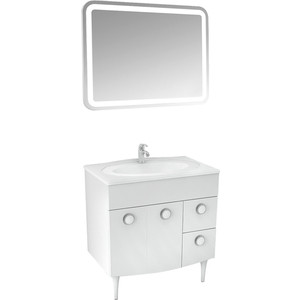 Мебель для ванной Triton Лира 80 белый R цена в Москве и Питере