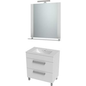 цена на Мебель для ванной Triton Ника 75 белый, 2 ящика