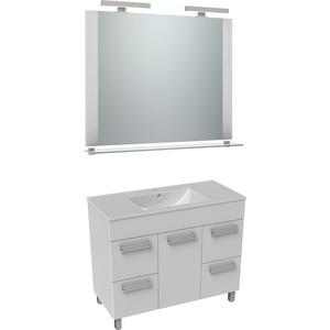 цена на Мебель для ванной Triton Ника 100 белый, 1 дверь, 4 ящика
