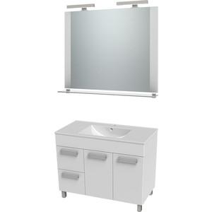 цена на Мебель для ванной Triton Ника 100 белый L