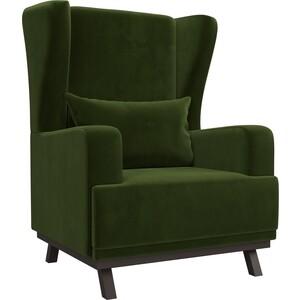 Кресло АртМебель Джон микровельвет зеленый