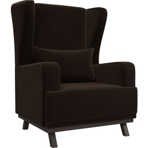Кресло АртМебель Джон микровельвет коричневый
