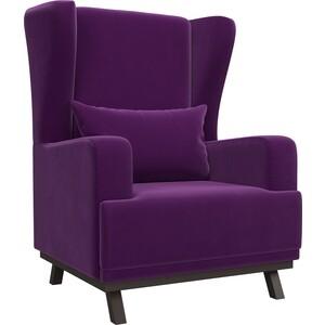 Кресло АртМебель Джон микровельвет фиолетовый