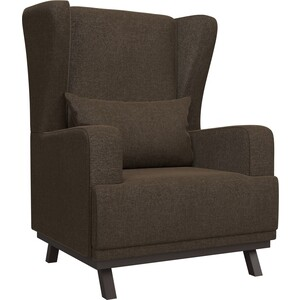 Кресло АртМебель Джон рогожка коричневый
