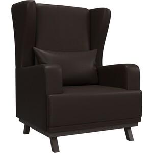 Кресло АртМебель Джон экокожа коричневый