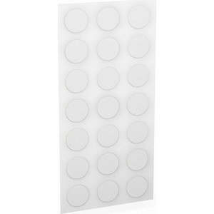 Заглушки Шатура Для эксцентриков (клеевая основа) белые d-20 мм 18шт. 482428
