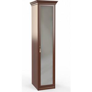 Шкаф 1-дверный с зеркалом Шатура Dante FU3-01.Z1L 483537 fsj 01 z1l шкаф 1 дв стекл 3 ящ щит полки шатура dante