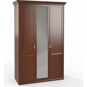 Шкаф 3-х дверный (1 + 2) с зеркалом Шатура Dante FU3-01.Z1L 483541 fsj 01 z1l шкаф 1 дв стекл 3 ящ щит полки шатура dante