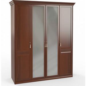Шкаф 4-х дверный (1 + 2 + 1) с зеркалом Шатура Dante FU3-01.Z1L 483543 fu1 01 ch 23p шкаф 3 дв 1 1 1 с зерк паспарту шатура rimini bosco