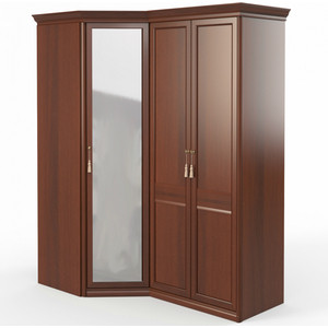 Шкаф угловой (угловой с зеркалом + 2) Шатура Dante FU5-01.Z1L 484051