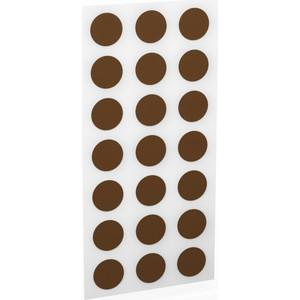 Заглушки Шатура Для эксцентриков (клеевая основа) темно-коричневые d-20 мм 18 шт. 482417