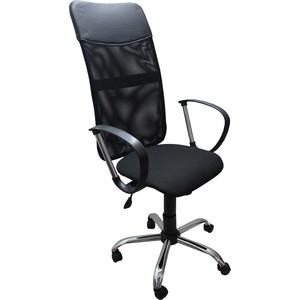 Кресло Союз мебель Сэмми ТГ крестовина хром ткань комбинированная