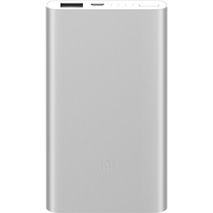 Внешний аккумулятор Xiaomi Mi Power Bank 2 5000mAh Silver внешний аккумулятор xiaomi 5000mah mi power bank 2 silver plm10zm vxn4236gl