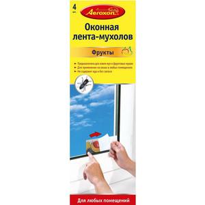 Липкие полосы Aeroxon для ловли мух, Фрукты, экологически чистый продукт, 4 шт