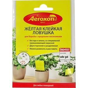 Ловушка Aeroxon для ловли вредных насекомых (мухи, трипсы, белокрылки, фруктовые мушки,листовые вши и др.), клейкая