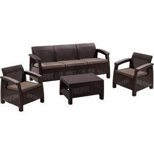 Комплект мебели Afina garden Yalta 3set AFM-1030A brown