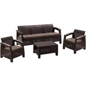 Комплект мебели Afina garden Yalta 3set AFM-1030A brown afina набор мебели асоль 2в иск ротанг