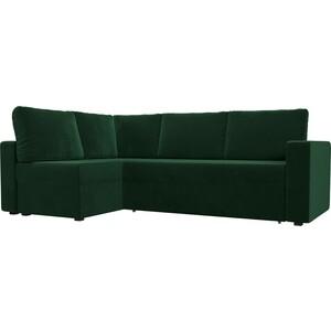 Угловой диван Лига Диванов Оливер велюр зеленый левый угол угловой диван лига диванов оливер рогожка корчневый левый угол