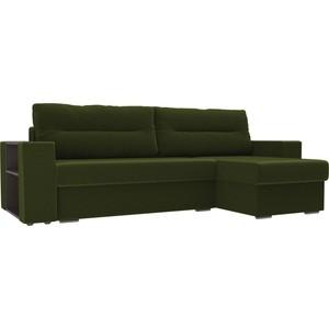 Угловой диван Лига Диванов Эридан микровельвет зеленый правый угол угловой диван лига диванов форсайт микровельвет зеленый правый угол