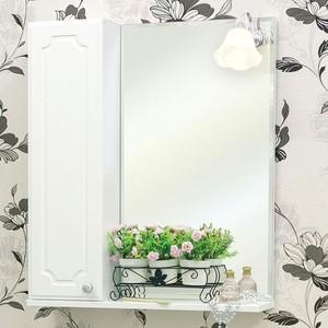 Зеркало-шкаф Sanflor Ксения 60 белый, левый (H0000000116)