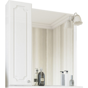 Зеркало-шкаф Sanflor Ксения 70 белый, левый (H0000000117)