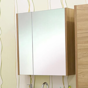 Зеркальный шкаф Sanflor Ларго 70 швейцарский вяз, правый (H0000000020)