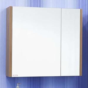 Зеркальный шкаф Sanflor Ларго 80 швейцарский вяз, левый (H0000000043)