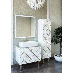 Мебель для ванной Sanflor Александрия 80 белый\патина золото детская мебель александрия каталог