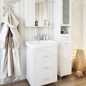 Мебель для ванной Sanflor Ксения 60 белый, напольная
