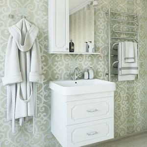 Мебель для ванной Sanflor Ксения 70 белый, подвесная