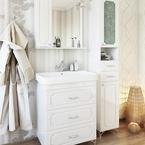 Мебель для ванной Sanflor Ксения 70 белый, напольная
