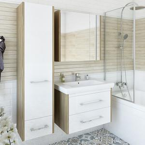 Мебель для ванной Sanflor Ларго 70 швейцарский вяз\белый, подвесная