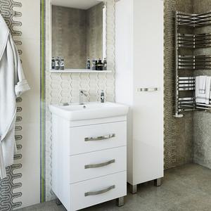 Мебель для ванной Sanflor Одри 70 белый, напольная