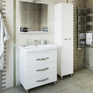Мебель для ванной Sanflor Одри 80 напольная, белая зеркало sanflor одри 80 белый h0000001157